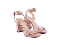 Женские босоножки на каблуке Fashion Woman KS43750 пудровые р38