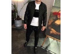 Мужская куртка Fashion Man DR1335 черная р46