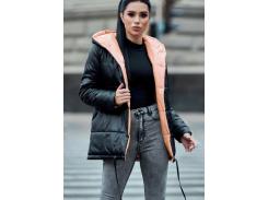 Куртка двухсторонняя SV4286 рL черный-персик