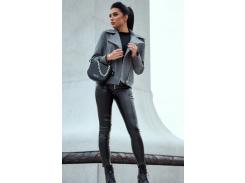 Женское пальто-косуха SV4305 рM серое