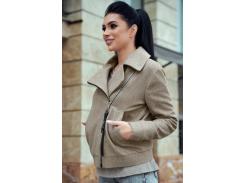 Женское пальто-косуха SV4305 рM капучино