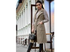 Женское пальто-жилет SV4303 рS капучино