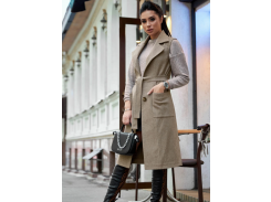 Женское пальто-жилет SV4303 рM капучино