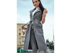 Женское пальто-жилет SV4303 рM серое