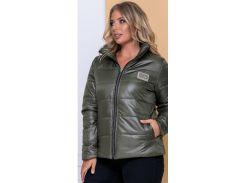 Женская демисезонная куртка NB20040 р56 хаки