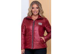 Женская демисезонная куртка NB20040 р56 бордовая