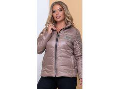 Женская демисезонная куртка NB20040 р50 мокко