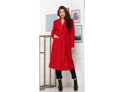 Женское пальто NB20012 р48 красное