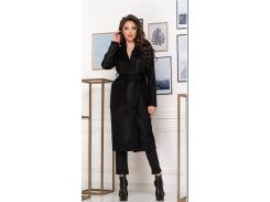 Женское пальто NB20012 р48 черное
