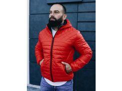 Мужская демисезонная куртка BD3585 рS красная