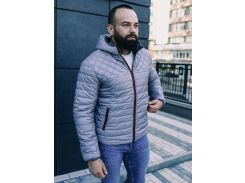 Мужская демисезонная куртка BD3585 рXL серая