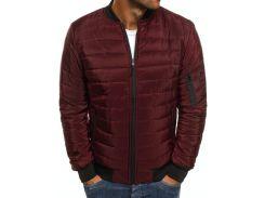 Мужская демисезонная куртка BD3588 рS темно-красная
