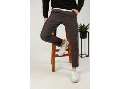 Мужские брюки Fashion Man BD0207 коричневые рXL