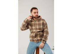 Мужская ветровка Fashion Man BD02015640 кемел в клетку рXL