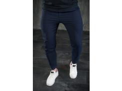 Мужские брюки зауженные BD3256 рS темно-синие