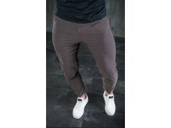 Мужские брюки зауженные BD3256 рS коричневые