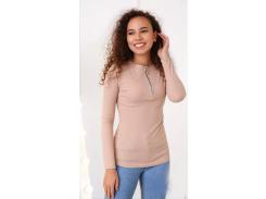 Женская кофта с молнией Fashion Woman GF4480 р42/44 бежевая