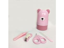 """Маникюрный набор """"Мишка"""" Розовый"""