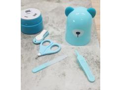 """Маникюрный набор """"Мишка"""" Голубой"""