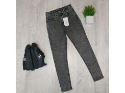 Женские стрейчевые джинсы BJ006 р30 серые