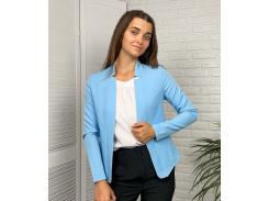 Женский пиджак приталенный GF71322 р46 голубой