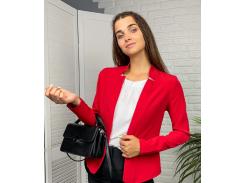 Женский пиджак приталенный GF71322 р48 красный