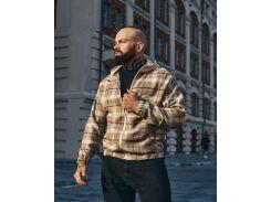 Мужская ветровка Fashion Man BD02010 кемел в клетку рS