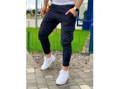 Мужские спортивные штаны DS0004 рS темно-синие