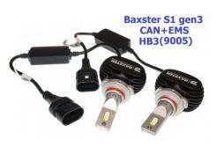 LED лампы Baxster S1 gen3 HB3 (9005) 6000K CAN+EMS (2 шт)