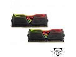 Geil 16 GB Super Luce RGB Lite Stealth Black DDR4 2666MHz Kit 2x8GB XMP (GLS416GB2666C16ADC)