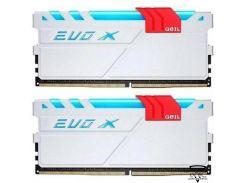 Geil 16 GB (2x8GB) DDR4 3200 MHz EVO X Frost White (GEXG416GB3200C16ADC)