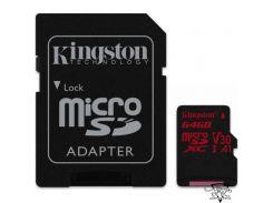 Kingston 64 GB microSDXC class 10 UHS-I U3 Canvas React + SD Adapter SDCR/64GB