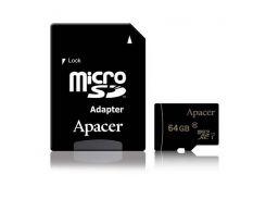Apacer 64 GB microSDXC Class 10 UHS-I + SD adapter AP64GMCSX10U1-R