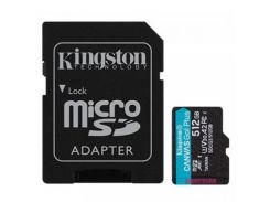 Kingston 512 GB microSDXC class 10 UHS-I U3 Canvas Go! Plus + SD Adapter SDCG3/512GB