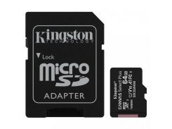 Kingston 64 GB microSDXC Class 10 UHS-I Canvas Select Plus + SD Adapter SDCS2/64GB