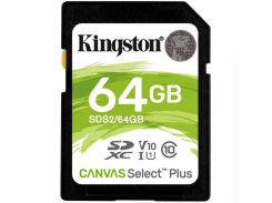 Kingston 64 GB SDXC Class 10 UHS-I Canvas Select Plus SDS2/64GB