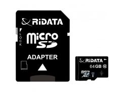 RiData 64 GB microSDXC class 10 UHS-I + SD Adapter FF964426
