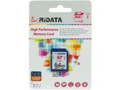 RiData 64 GB SDXC class 10 UHS-I FF960213