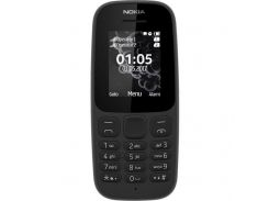 Nokia 105 Single Sim New (Black) (A00028356)