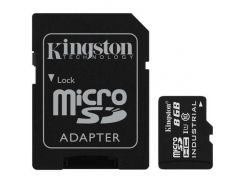 Kingston 8 GB microSDHC Class 10 UHS-I Industrial + SD Adapter SDCIT/8GB
