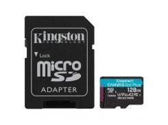 Kingston 128 GB microSDXC class 10 UHS-I U3 Canvas Go! Plus + SD Adapter SDCG3/128GB