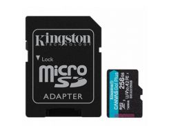 Kingston 256 GB microSDXC class 10 UHS-I U3 Canvas Go! Plus + SD Adapter SDCG3/256GB