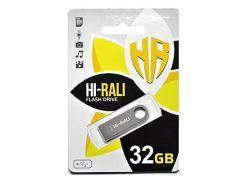 Hi-Rali 32 GB USB Flash Drive Shuttle series Silver (HI-32GBSHSL)