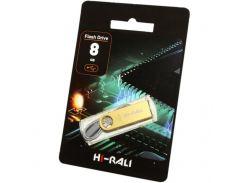 Hi-Rali 8 GB USB Flash Drive Shuttle series Gold (HI-8GBSHGD)
