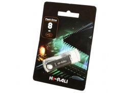 Hi-Rali 8 GB USB Flash Drive Shuttle series Silver (HI-8GBSHSL)