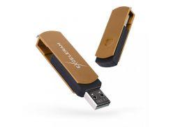 Exceleram P2 Black/Brown USB 2.0 EXP2U2BRB64