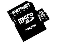 PATRIOT 32 GB microSDHC class 10 + SD Adapter PSF32GMCSDHC10