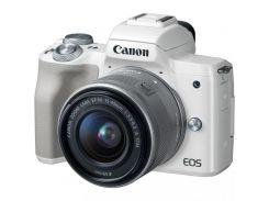 Canon EOS M50 kit (15-45mm) IS STM White (2681C057)