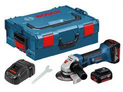 Аккумуляторная угловая шлифмашина Bosch GWS 18-125 V-LI (L-boxx)