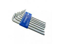 Набор шестигранных ключей S&R TX 7шт в пластиковой клипсе
